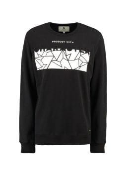 garcia sweater met opdruk h91264 zwart
