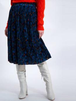 garcia lange rok met allover print j90323 blauw