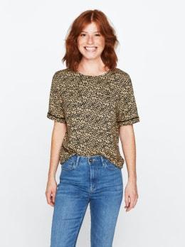garcia blouse met allover print bruin pg000406
