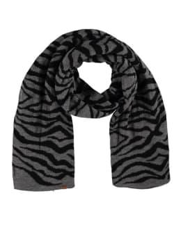 sarlini zebraprint sjaal grijs