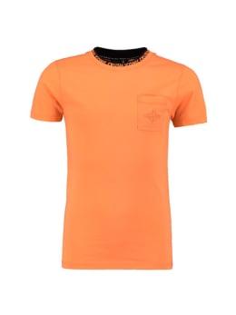 iconic crush denim t-shirt tacoma oranje