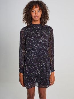 yezz jurk met allover print py900806 zwart