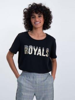 garcia t-shirt met tekstprint m00002 zwart