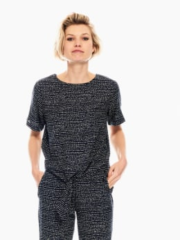 garcia blouse met allover print donkerblauw q00031