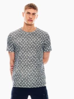 garcia t-shirt met allover print donkerblauw q01007