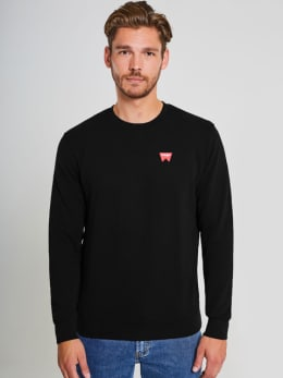 wrangler sweater w6589ha01 zwart