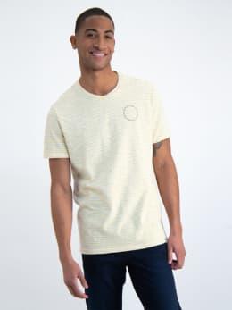 garcia t-shirt met strepen o01007 geel