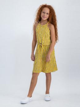 garcia jurk gestreept o02483 geel