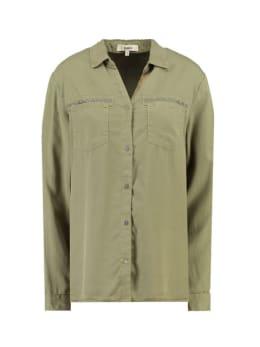garcia blouse i90033 donkergroen