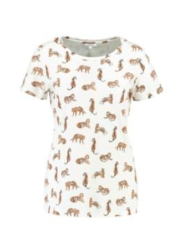 Yezz T-shirt Korte Mouw Tijger PY900305 Wit