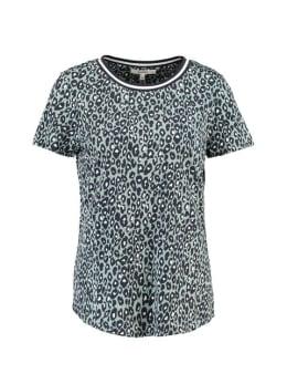 garcia t-shirt met allover print pg900502 grijs
