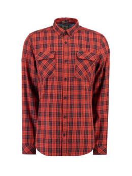 garcia geruit overhemd I91029 oranje-rood