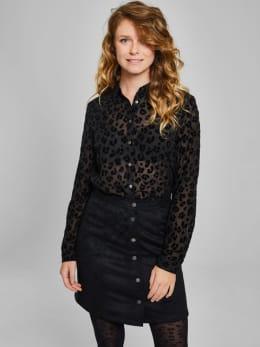 garcia suedine rok met knopen pg900105 zwart
