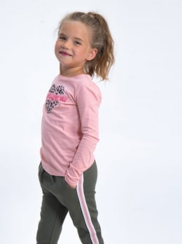 garcia long sleeve met opdruk h94601 roze