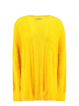 garcia fluffy vest gs900754 geel