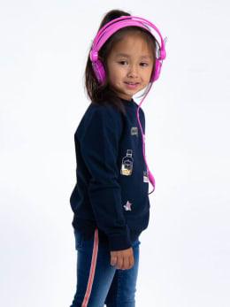 garcia sweater met patchwork j94660 blauw