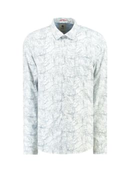 garcia overhemd met allover print g91025 wit