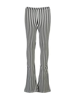 cars zuma flared broek meisjes gestreept zwart-wit
