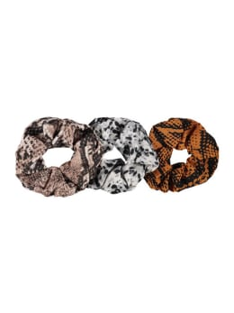 sarlini scrunchies met slangenprint