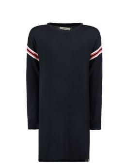 garcia jurk met sportieve strepen i92481 donkerblauw