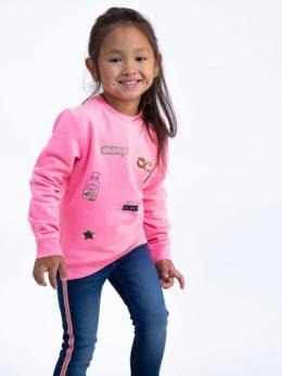 garcia sweater met patchwork j94660 roze