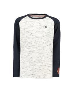 garcia t-shirt g93405 gemêleerd grijs blauw