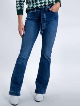 garcia jeans met uitlopende pijpen j90318 blauw