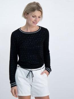 garcia t-shirt met geweven patroon n00260 zwart