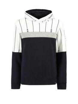 garcia hoodie g93462 gestreept blauw