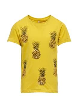 kids only t-shirt met opdruk geel konane life