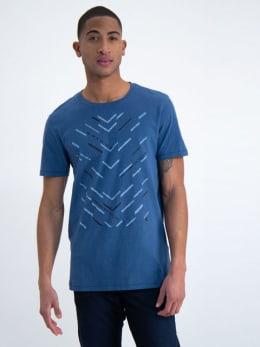 garcia t-shirt met opdruk m01001 blauw