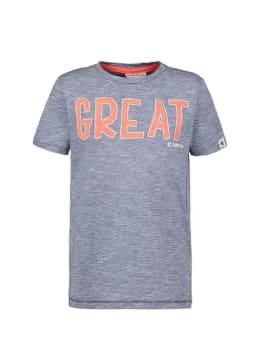 garcia t-shirt met opdruk n05403 blauw