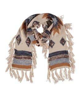 sarlini sjaal met patroon beige