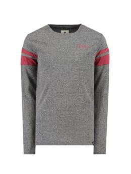 garcia t-shirt met lange mouwen i93402 grijs