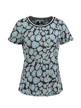 garcia t-shirt met print ge900701 donkerblauw