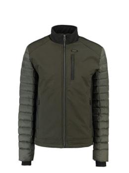 garcia sportieve softshell jas gj910919 groen