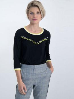 garcia t-shirt met ruffles m00006 zwart