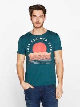 chief t-shirt met opdruk pc010303 groen