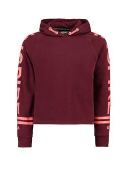 garcia hoodie met tekstprint i92466 rood