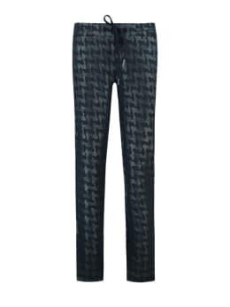 garcia broek met print j90317 blauw