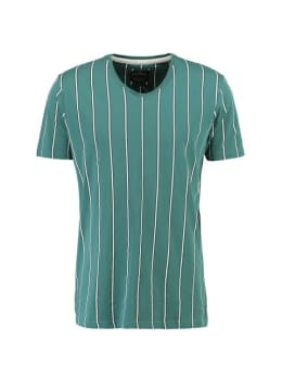 chief T-shirt met V-hals PC910605 groen