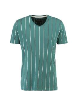 chief T-shirt met V-hals PC910605 groen