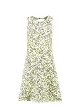 garcia jurk met print e92483 geel