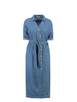 garcia jurk h90281 denim blauw