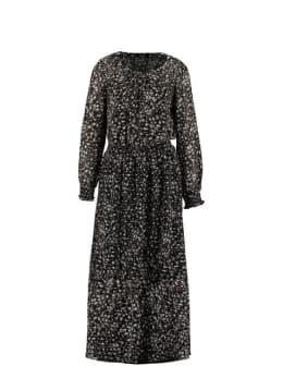 sisterspoint lange jurk met allover print zwart