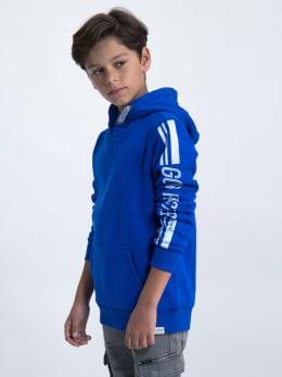 garcia hoodie met tekst ge930901-2731 blauw