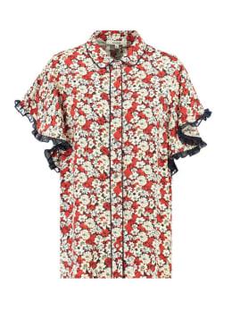 garcia blouse met allover print h90236 rood