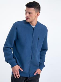 garcia zigzag vest m01061 blauw