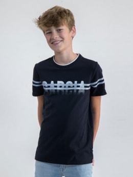 garcia t-shirt met opdruk n03610 blauw
