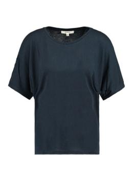 garcia t-shirt opengewerkte schouder e90012 donkerblauw